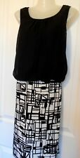 New Select Black/ White Patchwork Dress Size 14 UK/ 42 EUR