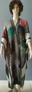 NEW Poncho By Cecilia Prado One Size Anthropologie Multicolor Cotton Woven C52