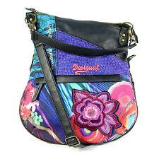 DESIGUAL Purple Pink Blue Green Floral Folded Crossbody Shoulder Bag - MINT