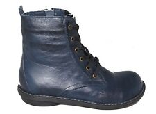 Zinnia Navy Blue leather Ankle Lace Up Boot Nessie rrp £99.99 UK 8 EU 42 LN03 20