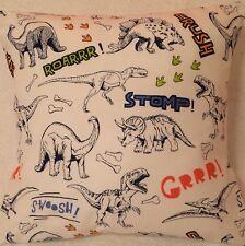 Dinosaur Jurassic Handmade cushion cover/pillow case 16 x 16 inch