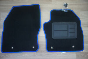 Car Floor Mats Front Pair for Ford Focus LS/LT/XR5: 07/2005 to 07/2011 (Blue)