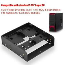 """2.5in to 3.5in SSD/HDD to 5.25"""" Floppy-Drive Bay Mounting Adapter Bracket Dock"""