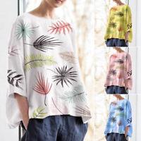ZANZEA Women Batwing Sleeve Summer Tank Tops Blouse Floral Print Shirt Tops Plus