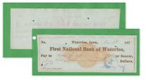 Old Cancelled Check, 1871, First National Bank of Waterloo (7566