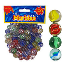 Coloured Glass Marbles Kids Traditional Toys Classic Retro Gift Game Party 100pc