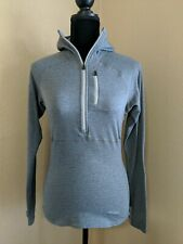 Patagonia Women's Half Zip Pullover Waffle Regulator Small Gray