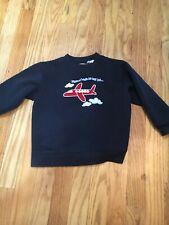 boys airplane sweat shirt 3t flying high in my jet future pilot