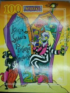 Beetlejuice And Lydia 100 Piece Jigsaw Puzzle complete golden