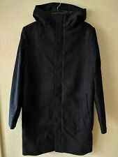 NWT H&M Wool Hooded Parka Coat Dark Blue Navy