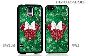 Disney Minnie Mouse Merry Christmas Phone Case for Apple or Samsung Phone Case