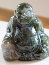 MOSS AGATE BUDDHA STATUE STONE CARVING FETISH 1590