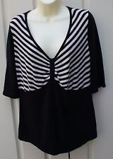 COUNTRY CASUALS black stripy top size L
