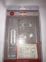 "First Edition ~ Craft a Card - 5x7"" Metal Cutting Die ~ Workshop"