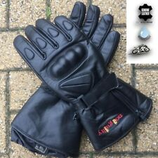 Men Waterproof Thermal Long Padded Motorbike/Motorcycle Winter Leather Gloves