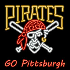 Neon Signs Pittsburgh Pirates Beer Bar Pub Store Party Room Wall Decor 24X20