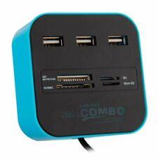 Hub Combo 3 Ports USB 2.0 + Lecteur Carte SD/Micro SD PC Ordinateur Laptop