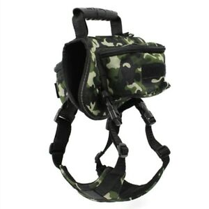 Dog Travel Backpack Outdoor Sport Hiking Camping Training Canvas Saddle Bag 1 Pc