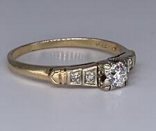 $1150 Vintage Diamond Engagement/Anniversary 1/3Ctw 0.33ct Old Euro Antique ring