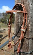 Jose Ortiz Harness Browband Headstall Hand Laced Natural Rawhide