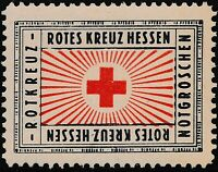 Stamp Germany Reich Revenue Red Cross Fiscal Cinderella Rotes Kreuz Hessen