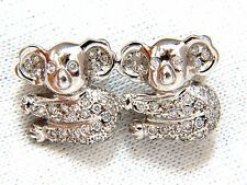 ".80ct diamonds ""Mating Pandas"" brooch pin 18kt fertile charm+"
