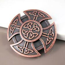 NEW Knights Shield Round Celtic Cross Knot Mens Belt Buckle FREE GIFT BOX