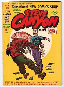 STEVE CANYON #2 5.5 OFF-WHITE TO WHITE PAGES GOLDEN AGE