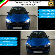 KIT FULL LED PEUGEOT 206 H7 6000K BIANCO 9800 LUMEN + LED POSIZIONE 6000K CANBUS