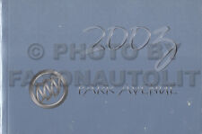 2003 Buick Park Avenue Original Owners Manual NEW Owner Guide Book