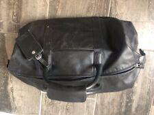 Coach Leather Duffle Bag - Black, Leather, Expandable