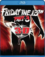 Blu Ray FRIDAY THE 13TH PART 3. 2D & 3D with glasses. Region free. New sealed.