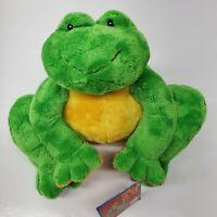 "Baby Gund Tutti Frutti Frog Plush NEW Green Yellow Stuffed animal #58322 7"""