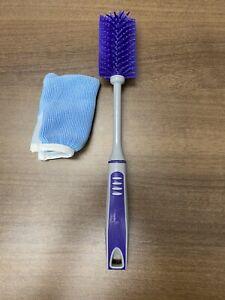 Norwex Baby Bottle Brush With EnviroSleeve canning jar brush cleaner purple