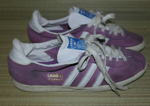 ADIDAS GAZELLE MENS PURPLE LACE UP LEATHER SUEDE TRAINERS SIZE:6.5/40(MS17)