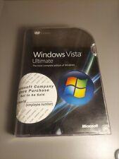 Microsoft Windows Vista Ultimate 32/64 bit Software Program