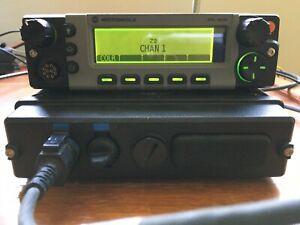 Motorola XTL5000 UHF 450 520MHz Remote Mount w/ O5 Control Head M20SSS9PW1AN