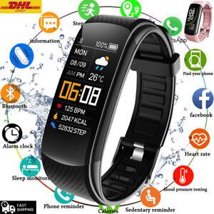 Smartwatch Uhr Armband Sport Pulsuhr Blutdruck Fitness Tracker Damen Herren 2021