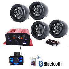 Bluetooth Wireless Speakers Audio System Stereo MP3 Radio ATV UTV Scooter For US