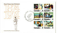"CANADA 1974 FIRST DAY COVER ""CENTENARY OF LETTER CARRIERS"" SC# 634-639 [35]"