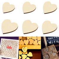 Wooden Blank Heart Embellishments Wood Slices Discs Ornaments DIY Crafts