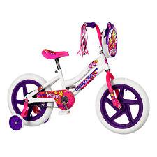 "Mongoose 16"" Presto Pizzazz Single Speed Kids Training Wheel Bicycle, White/Pink"