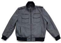 Structure Mens Wool Blend Grey Zip Up Jacket Size XL