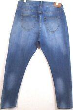 H&M BOYFRIEND Jeans Misses Sz 30 Zip Fly Low Waist Tapered Leg Denim Inseam 29.5