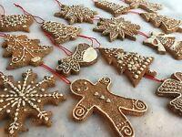Resin Gingerbread Cookies Christmas Decorations Glitter Gisela Graham Man Men