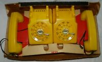 Vintage Remco Dial Master toy Telephone set in partial box