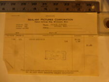 Movie Billhead Realart 7/12/1920 Nurse Marjorie-Mary Miles Minter Arthur Hoyt
