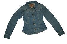 NEU! Guess Damen Jeansjacke Jeans Jacke Biker Look blau Größe XS 16001/A1