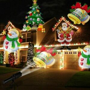 Christmas LED Projector Light Moving Snowflake Projection Lamp Party Decoration