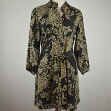 TWELFTH STREET by Cynthhia Vincent S Barneys NY Belted Dress Silk NEW Pockets